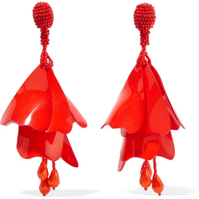 OSCAR DE LA RENTA resin clip earrings