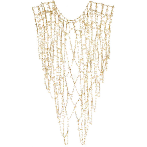 ROSANTICA Chimera pearl body chain