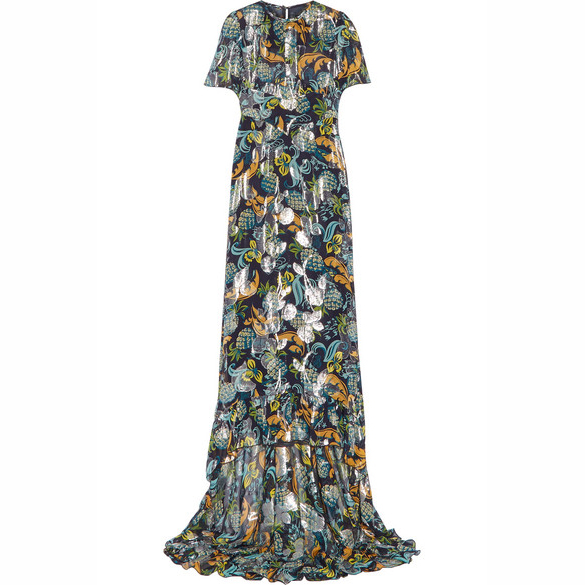 ANNA SUI Printed chiffon dress