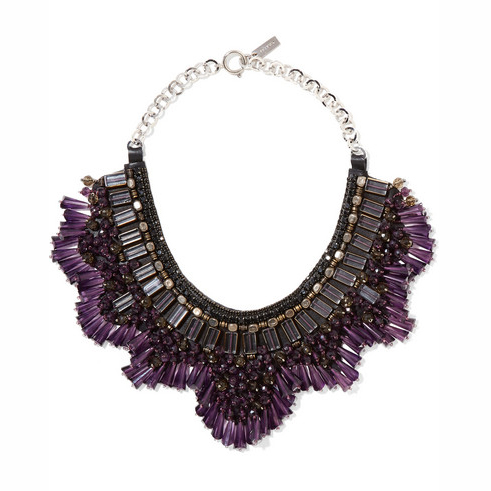 ETRO bead and crystal necklace