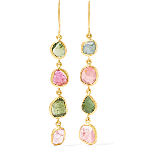 PIPPA SMALL 18-karat gold tourmaline earrings