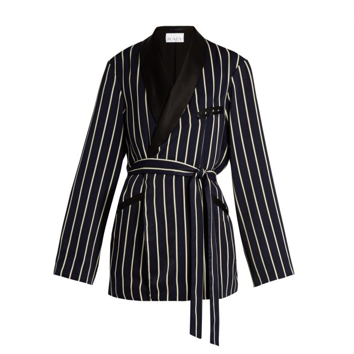 RAEY Striped satin jacket