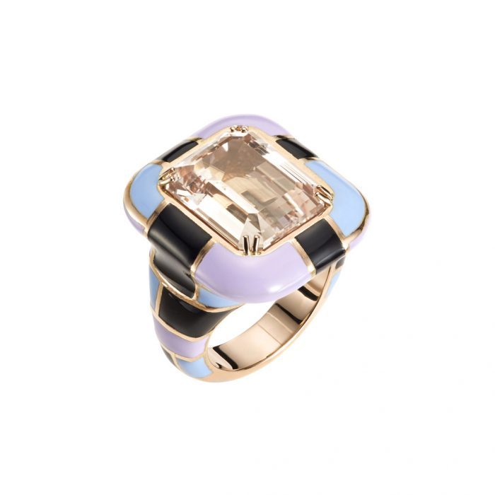 Mattioli Epoche Rose Quartz Ring