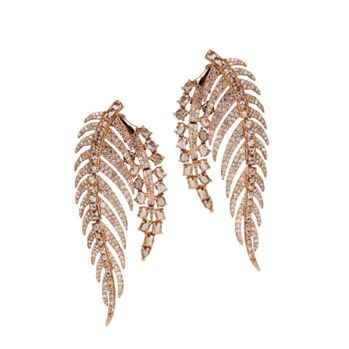 Sutra Diamond Front Back Earrings