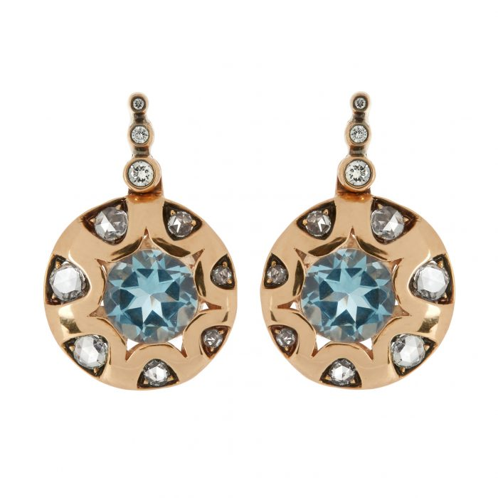 Selim Mouzannar Diamond Aquamarine Earrings