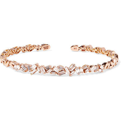 Suzanne Kalan Rose Gold Diamond Cuff