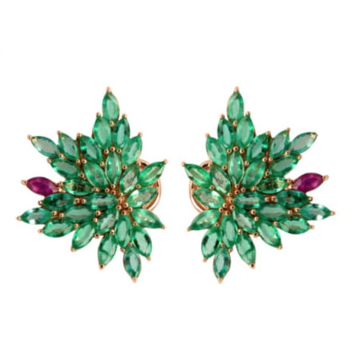 Joana Salazar Emerald Earrings