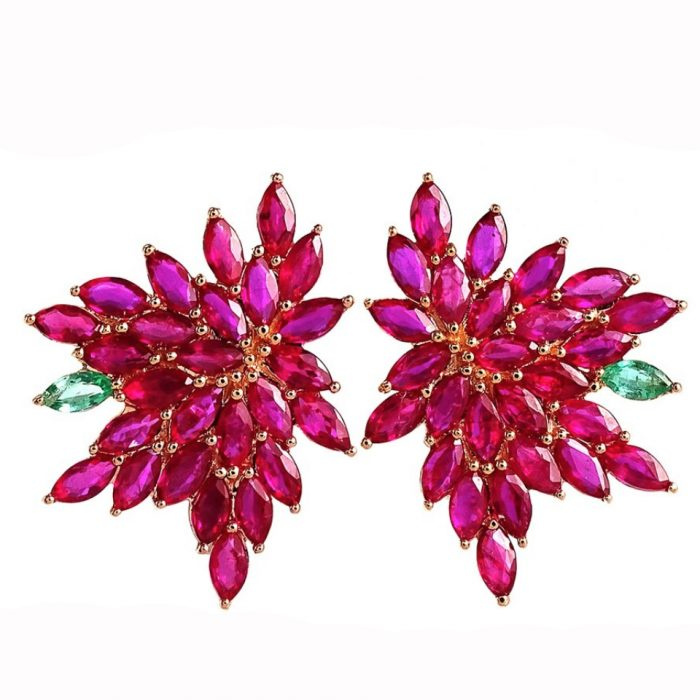 Joana Salazar Ruby Earrings