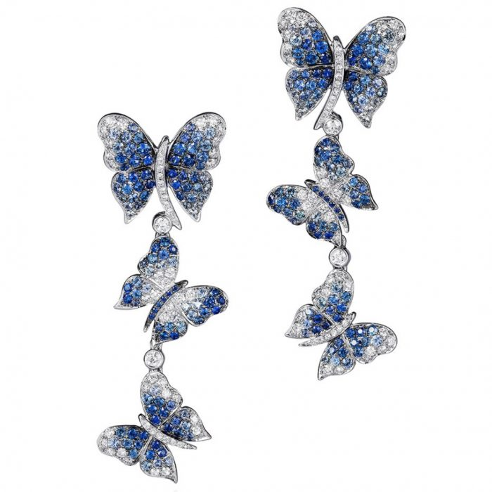 Vanleles Diamonds Butterfly Earrings