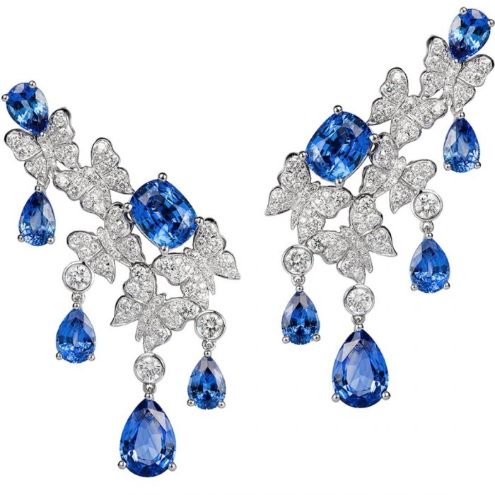 Vanleles Diamonds Dancing Butterfly High End Earrings