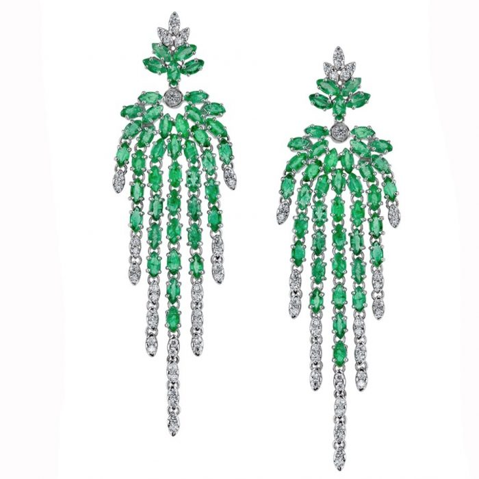 Carla Amorim Emerald Earrings