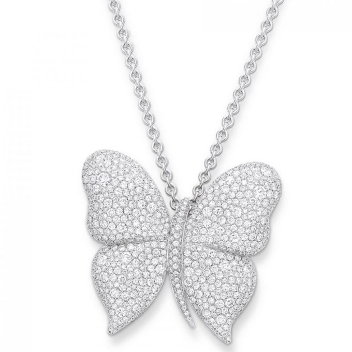 Vanleles Diamonds Dancing Butterfly Pendant And Brooch