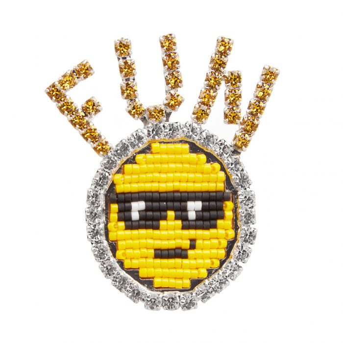 SHOUROUK Emojibling Fun smiley face brooch