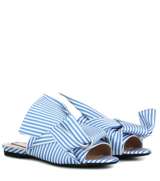 N°21 Striped slip-on sandals
