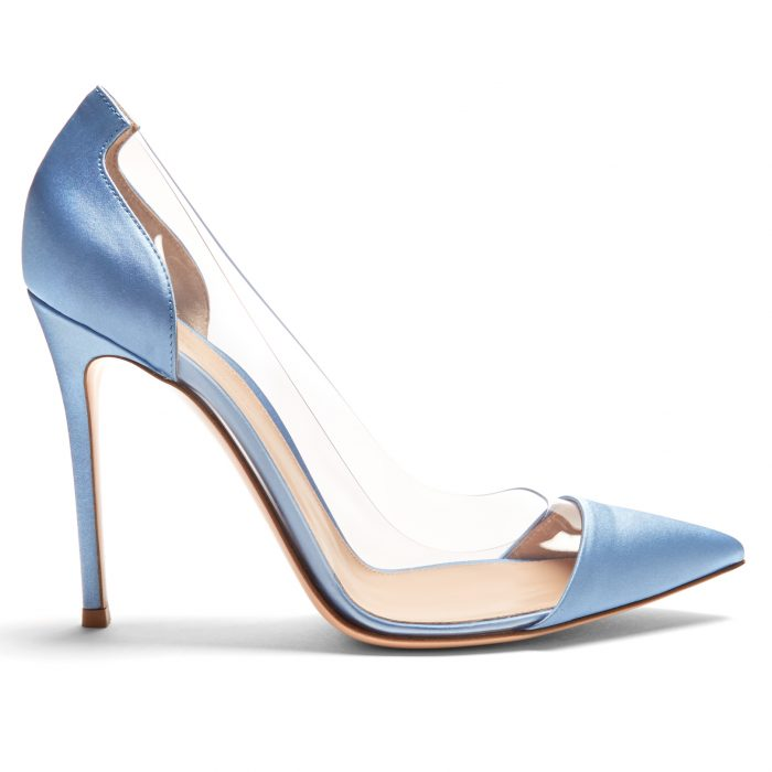 Gianvito Rossi Plexi satin pumps