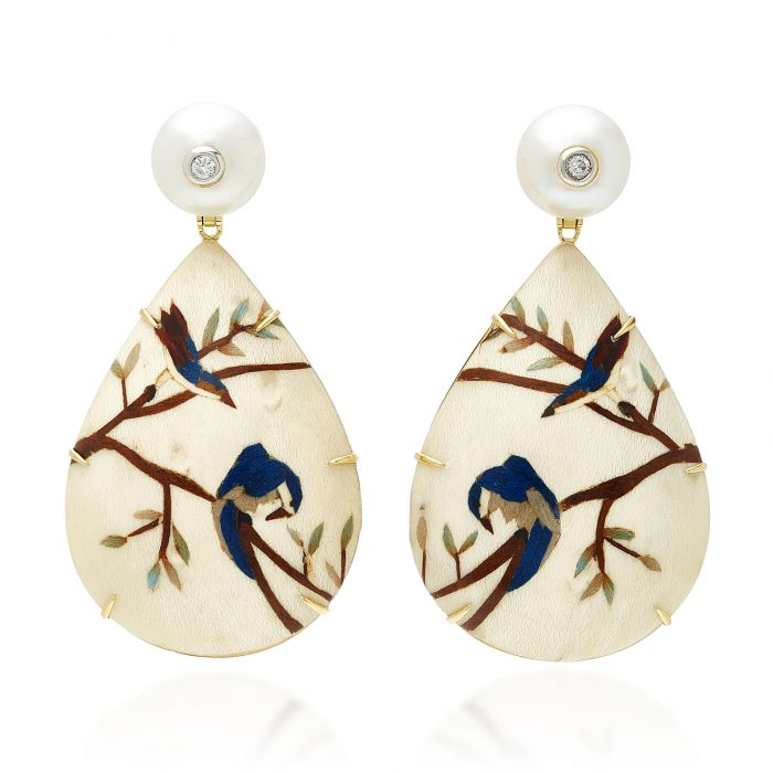 Silvia Furmanovich Marquetry Earrings