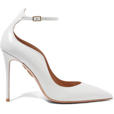 Aquazzura Dolce Vita Leather Pumps