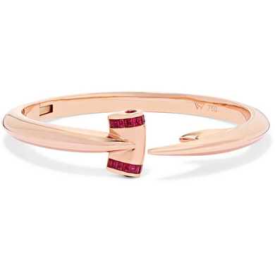 Stephen Webster Hammerhead 18-Karat Rose Gold Ruby Bracelet