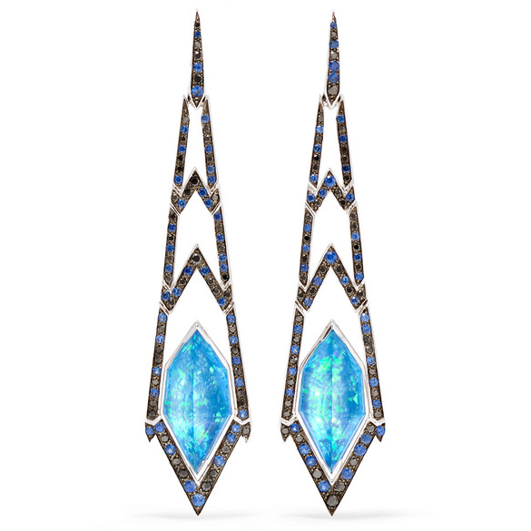Stephen Webster Lady Stardust 18-Karat White Gold Multi-Stone Earrings