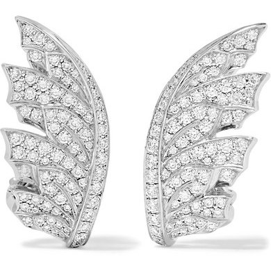 Stephen Webster Magnipheasant 18-Karat White Gold Diamond Earrings