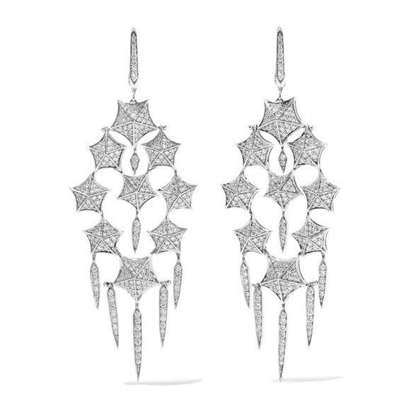 Stephen Webster Stargazer 18-Karat White Gold Diamond Earrings