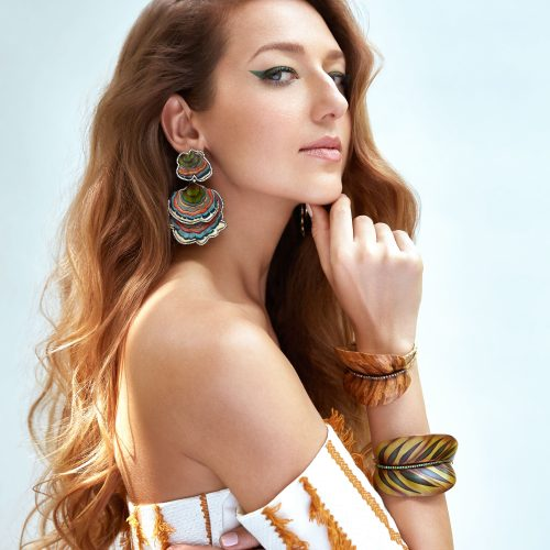 GEMOLOGUE_Liza Urla_jewellery blogger_jewelry blog_jewellery_Silvia Furmanovich, Liza Urla is a new face of Silvia Furmanovich_Silvia Furmanovich earrings_Brazilian designer launched new marquetry collection, Botanica fine jewellery collection, Liza Urla the face of Silvia Furmanovich, fine jewellery, Brazilian jewelty brand, Vogue Silvia Furmanovich_Bergdorf Goodman Silvia Furmanovich