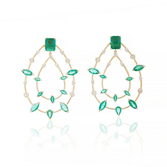 Carolina Neves Emerald Drop Earrings