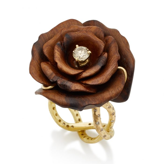 Silvia Furmanovich Marquetry Rose Ring