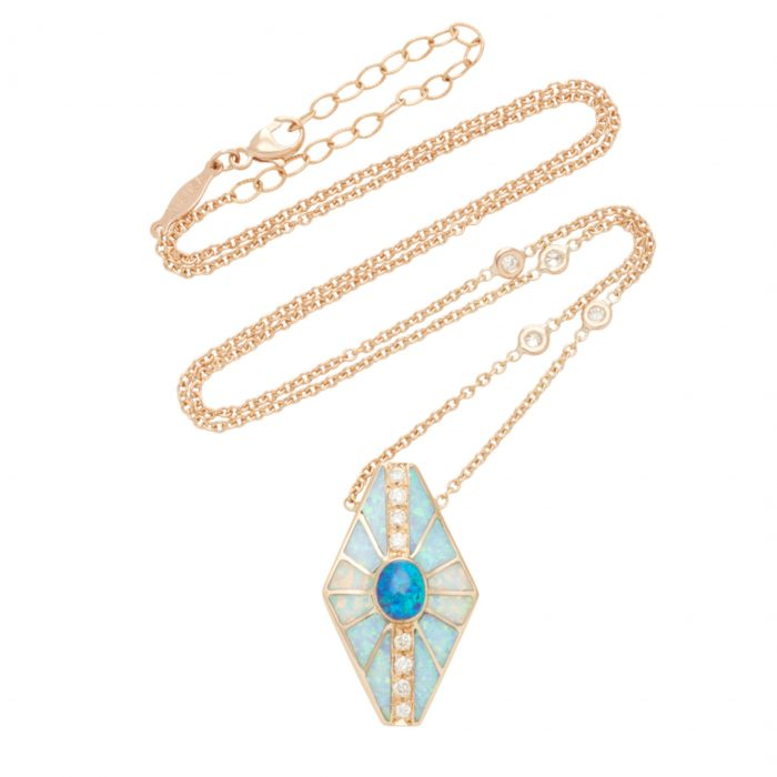 Jacquie Aiche One-Of-A-Kind Opal Inlay Necklace