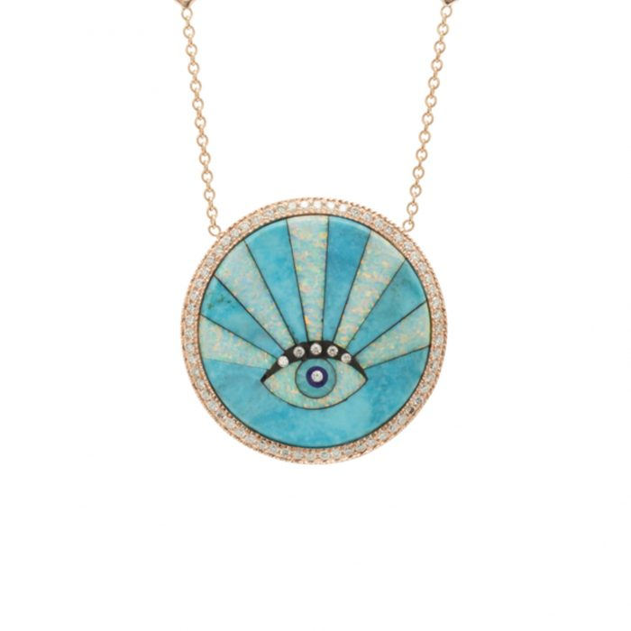 Jacquie Aiche Sunshine Opal Eye Necklace