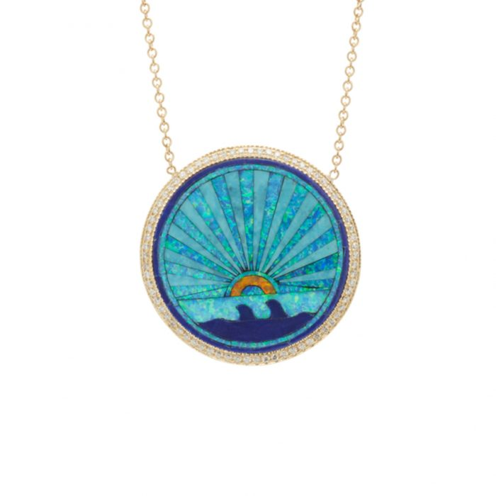 Jacquie Aiche Sunshine Opal Rainbow Necklace