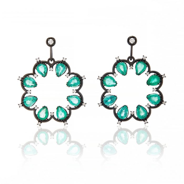 Nancy Newberg Daisy Emerald Earrigns