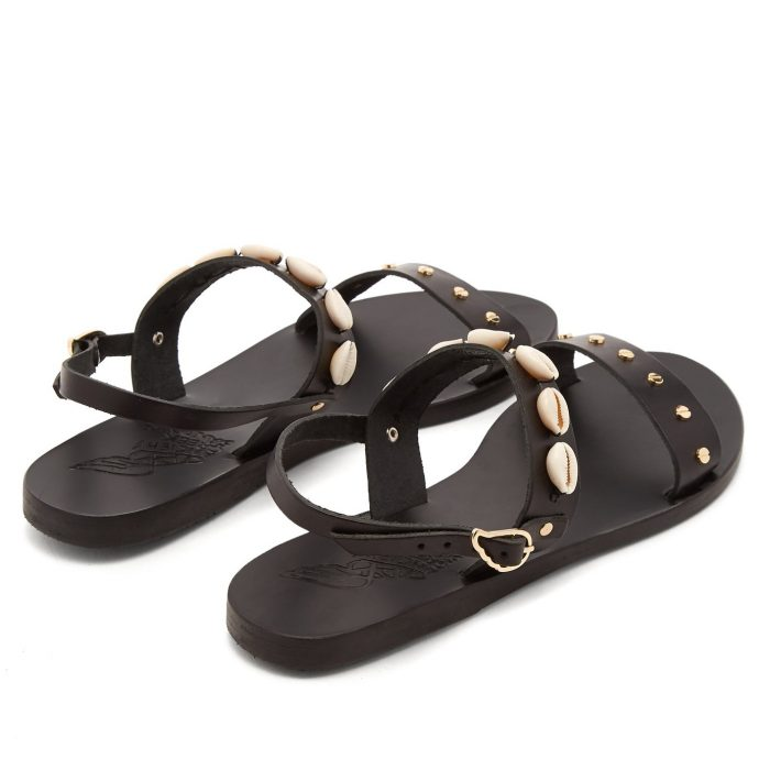 Ancient Greek Sandals Clio Shell-Embellished Sandals