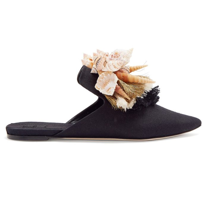 Sanayi 313 Iris Shell Slipper Shoes