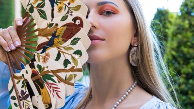 GET THE LOOK: JAPANESE MOTIFS IN MARQUETRY JEWELLERY WITH SILVIA FURMANOVICH