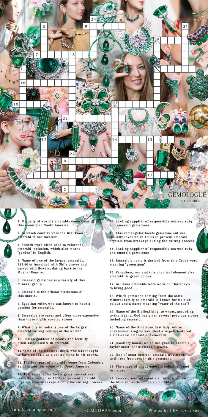 , HOLIDAY SPECIAL: GEMOLOGUE EMERALD CROSSWORD PUZZLE, Victoria's Jewelry Box